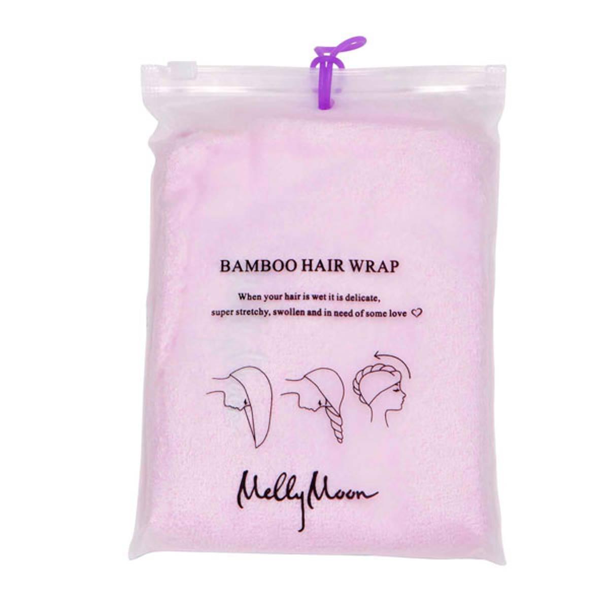 Bambus hårhåndkle - lys rosa