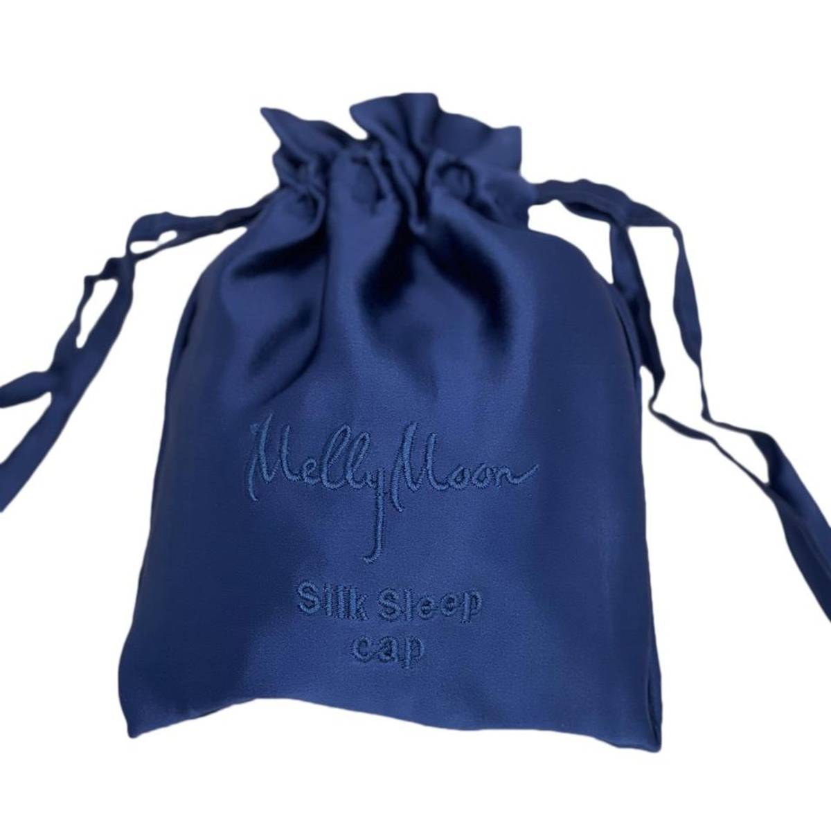 Sove turban i silke-mørkeblå