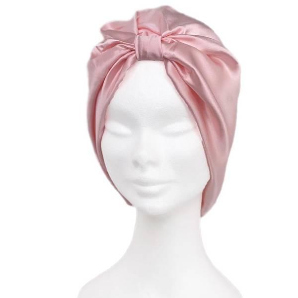 Bilde av Sove turban i silke-rosa