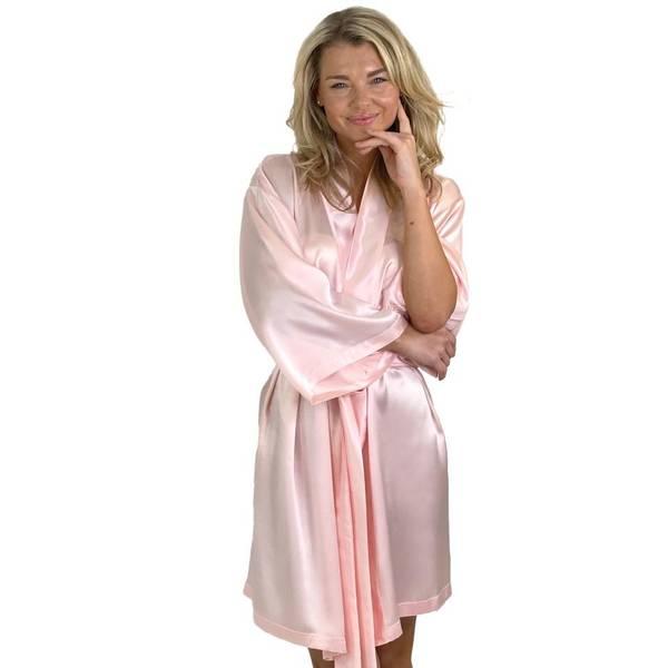 Bilde av Kimono i silke - lys rosa
