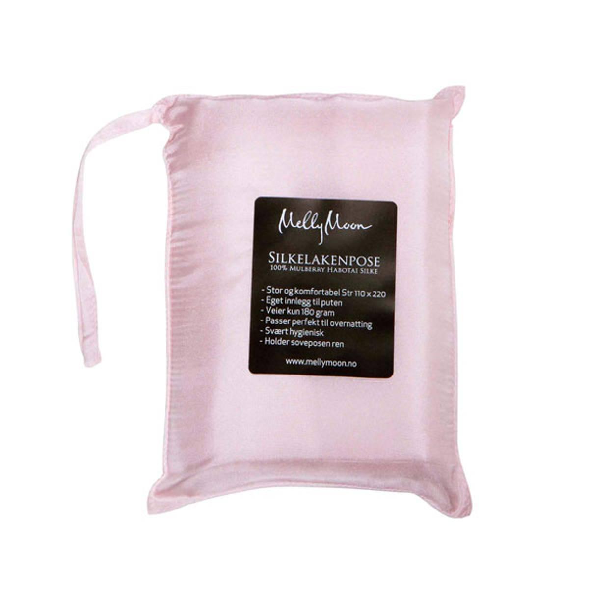 Silkelakenpose - lys rosa